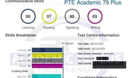 Congratulations to our student Sabrina ( Peiyao) for getting 79 score in the PTE Exam